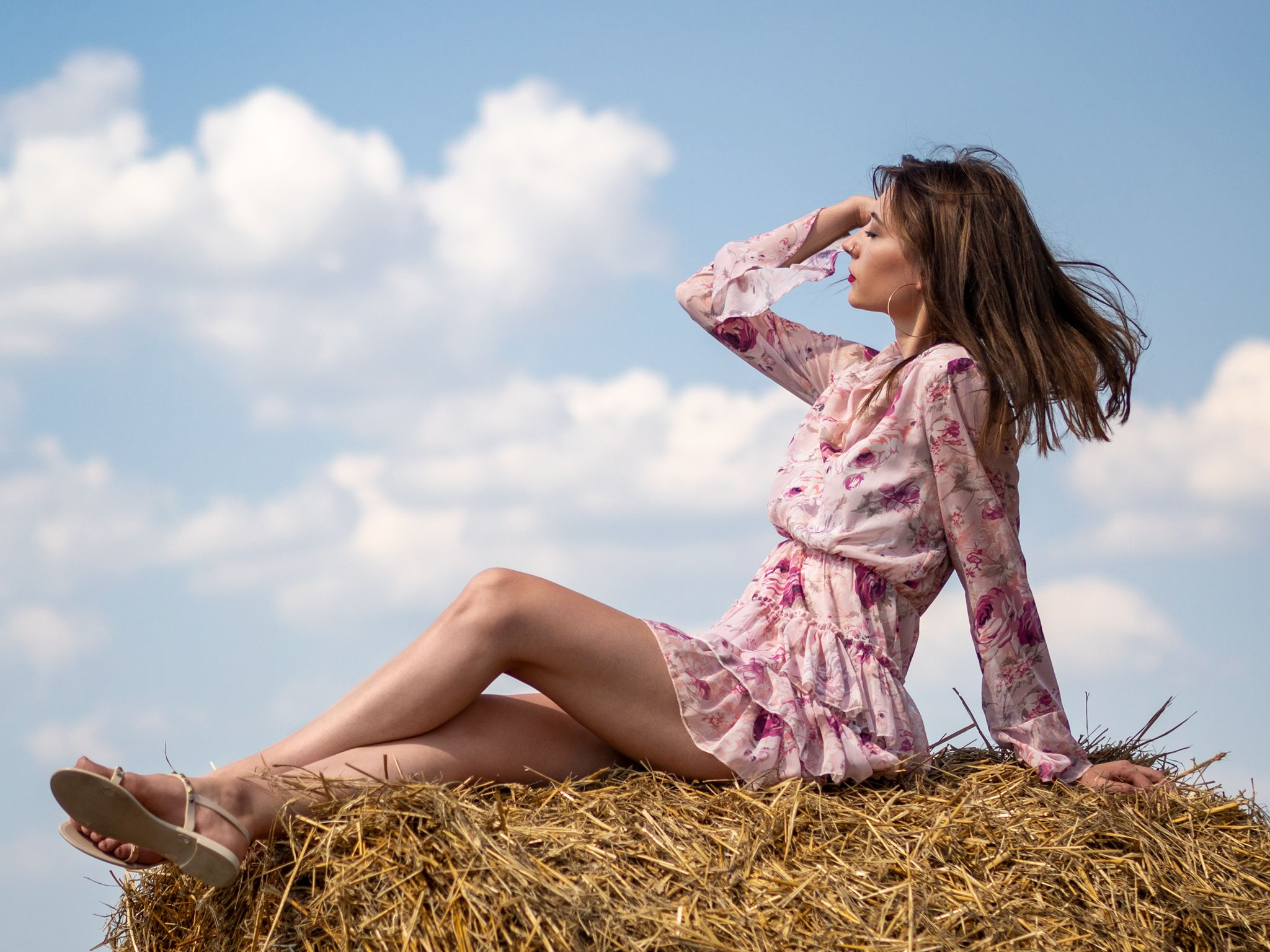 Day In The Hay With Adrianna